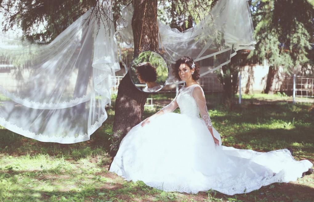 Abito sposa con strascico