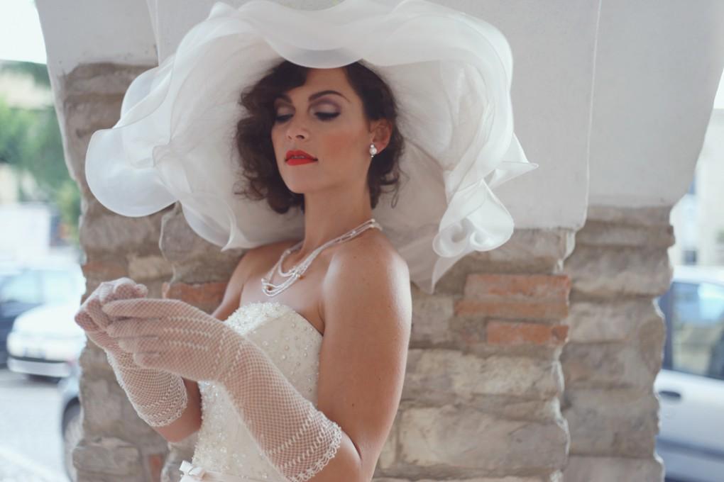 Cappello amplio sposa